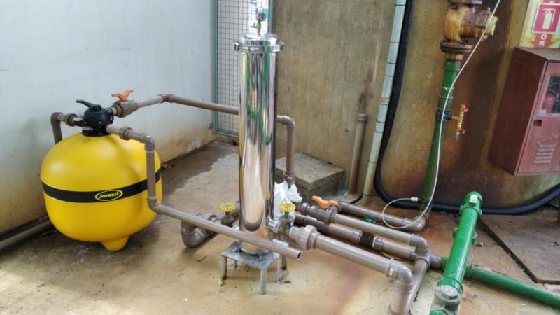 Filtro de areia para tratamento de esgoto