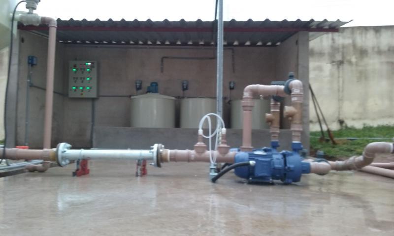 Reforma em estação de tratamento de água