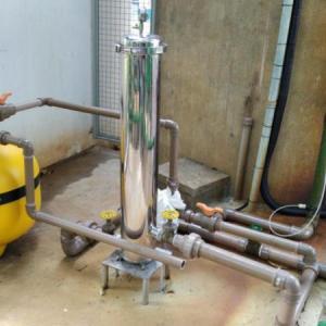 Filtro de areia para tratamento de efluentes